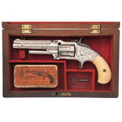 Exceptional Cased Factory Engraved and Inscribed Smith & Wesson Number 1 1/2 2nd Issue Single Action