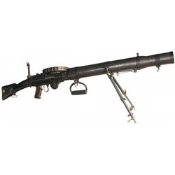 Fully Automatic World War I British BSA Manufacture Model 1914 Lewis Machine Gun with Three Magazine
