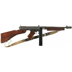 Desirable World War II Fully Automatic Class III Auto-Ordnance Model 1928A1 Thompson Submachine Gun