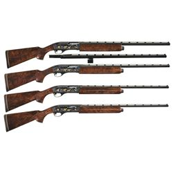 Immeasurably Rare Sequentially Numbered Four-Gun Set of Remington Custom Shop Premier Grade Master E