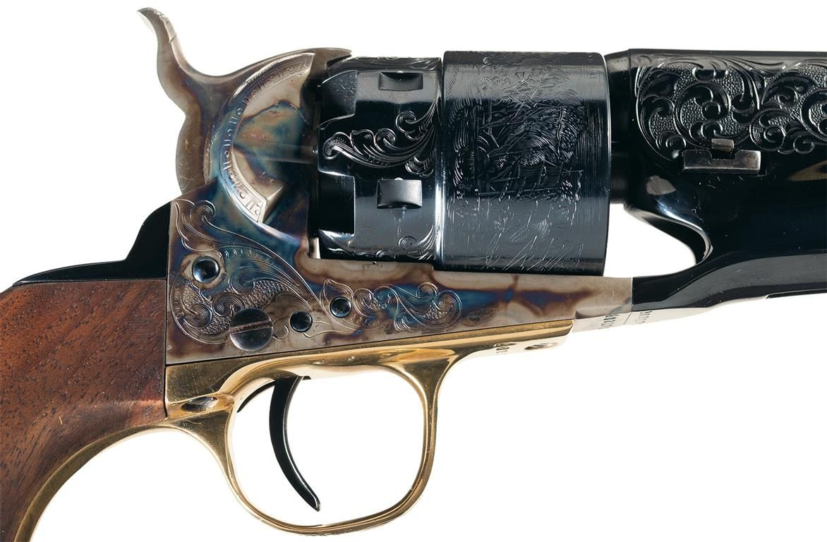 Cased Dennis Kies Master Engraved Second Generation Colt ...