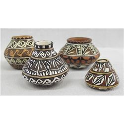 Yaqui Miniature Polychrome Pottery Jars
