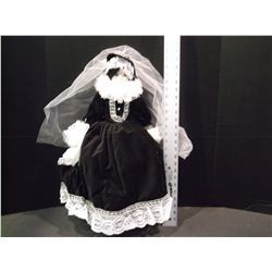 "Antique Doll in Black Velvet by Maria Stuaroa (Creazioni Esclusive). 24""."
