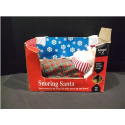 """Snoring Santa"" by Gemmy Industries. 12""."