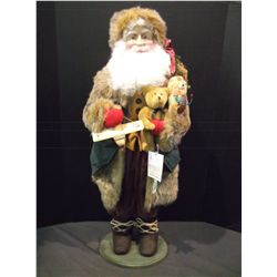 "Old Fashioned Santa by Karen and Richard Haskell (Country Handworks). 34""."