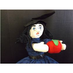 "Snow White and the Witch Reversible Doll. 19""."