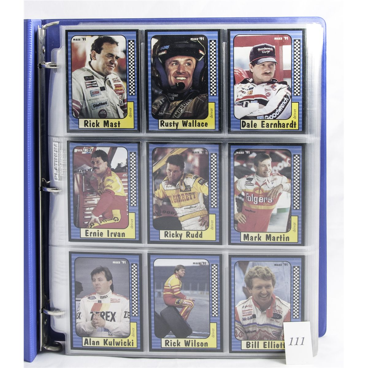Album Of Nascar Collectors Trading Cards