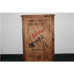 WOODEN CRATE COVER FOR VICTOR TALKING MACHINE SHIPMENT