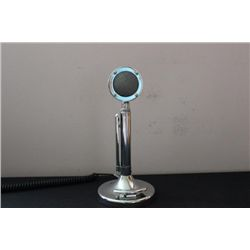 CROME PLATED MICROPHONE ON TABLE BASE - ADJUSTABLE -