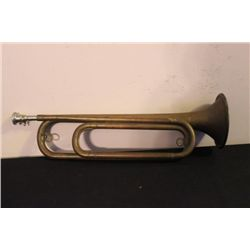 "EXC. BRASS TRUMPET - GREAT COLOR TONE - 17"" LONG"