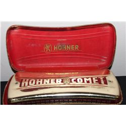 HOHNER COMET MADE IN GERMANY IN ORIG. CASE - GOOD