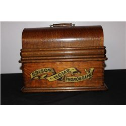 GREAT-LOOKING EDISON HOME PHONOGRAPH CASE IS MEANT