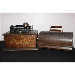 EDISON STANDARD PHONOGRAPH CYLINDER PLAYER WORKS FINE -