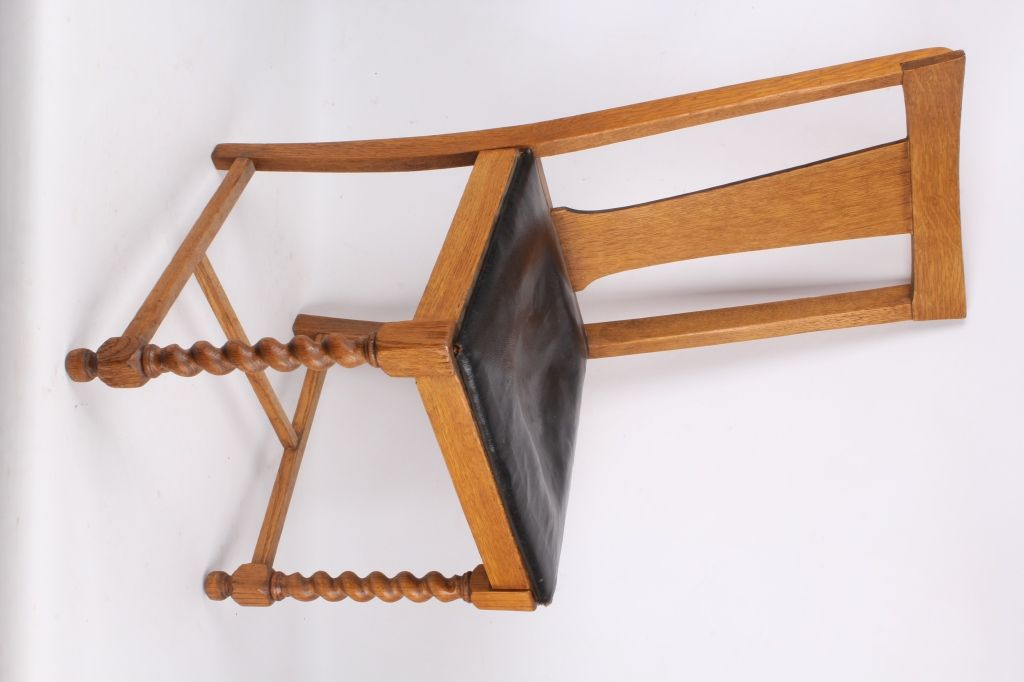 ... Image 3 : Antique Chair with unique Spiral Legs ... - Antique Chair With Unique Spiral Legs