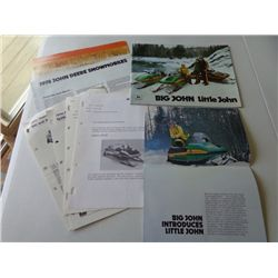 Lot of JD Big John/Little John Snowmobile Info