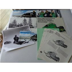Lot of JD Snowmobiles Info Flyers