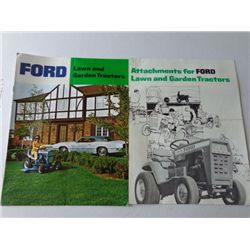 Lot of Ford Lawn & Garden Tractor w/attach flyer