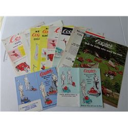 Large Lot of Cooper Advertising Product Sheets