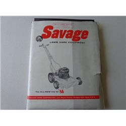 LARGE Lot of Savage Lawn Care Product Info