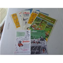 Lot of Ariens Product Info Pamphlets