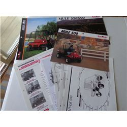 Lot of Kawasaki Mule Product Info Booklets