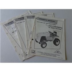Lot of Jacobson GT Series Tractors Manuals