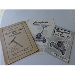 Pennsylvania Lawn Mower Manual and Part List