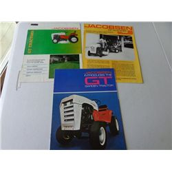 Lot of Jacobson GT Series Tractors Product Info
