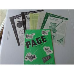 Lot of Page Power Equipment Product Info Sheets