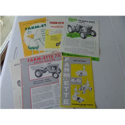 Lot of Farm-ette Advertising Product Flyers