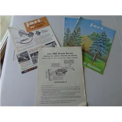 Lot of Jari Product Info Sheets