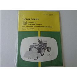 JD 30 Integral Rotary Tiller Manual -Sealed