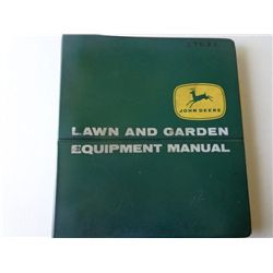 JD Lawn and Garden Equip Manual Binder