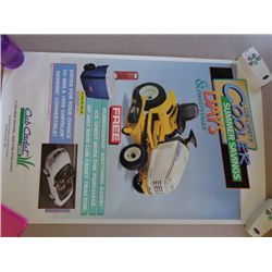 Cub Cadet Poster - Cooler Advertising