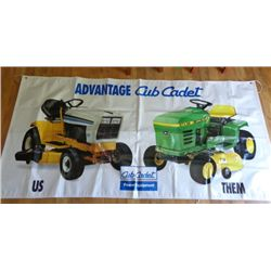 Cub Cadet Vinyl Yard Sign  - Cub vs. JD