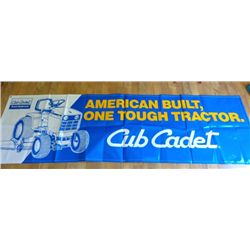 Cub Cadet Vinyl Yard Sign - American Built