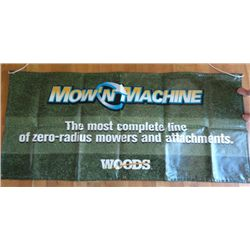 Woods Vinyl Yard Sign - Mow 'N Machine