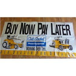 Cub Cadet Vinyl Yard Sign - Buy Now Pay Later