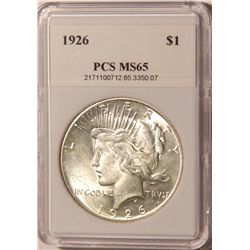 1926 Peace Dollar PCS MS65