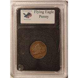 1858 Flying Eagle Cent- Cased