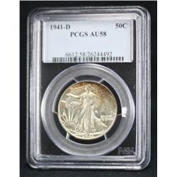 1941-D Walking Liberty PCGS AU58