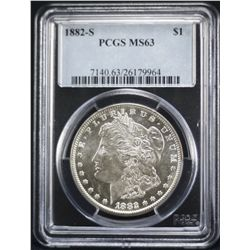 1882-S Morgan PCGS MS63