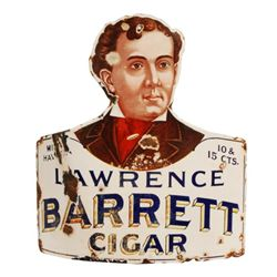 Lawrence Barrett Cigar Porcelain Corner Sign