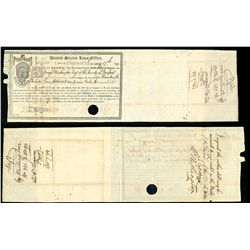 An Exceptionally Rare and Historic United States Loan Office Certificate Issued Following Alexander