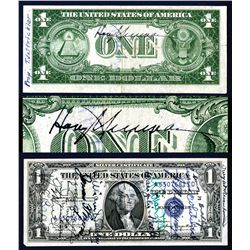 Important Presidentially Autographed Short Snorter with President Truman's and Many Other Signatures