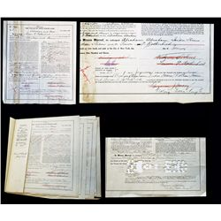 Historic Abraham & Straus and Macy's Related Stock Certificate Archive from 1911 to 1914