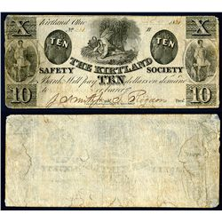 Kirtland Safety Society Bank, 1837, Obsolete Banknote with Joseph Smith Signature.