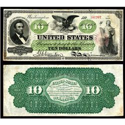 Legal Tender, $10, Series of 1862, Fr#93, Series 61, S/N 86707, pp C.