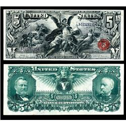 U.S. Silver Certificate, 1896 $5  Educational , Fr#270.