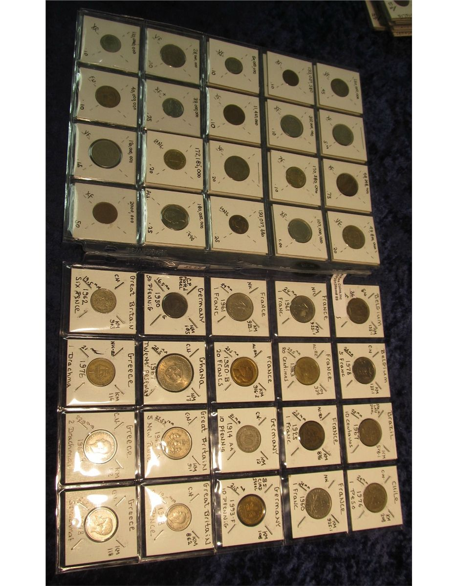 Nine Different Ways You Can Put Your Goals In Writing: 89. (54) Different World Coins. Twenty-nine Different